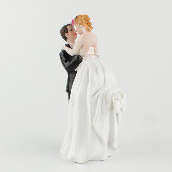Lift Arms  Bride and Groom Cake Ornaments Decoration - WHITE