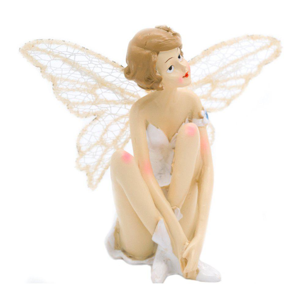 Фото White Angel Flying Flower Fairy Ornaments Home Decoration Cartoon Gifts