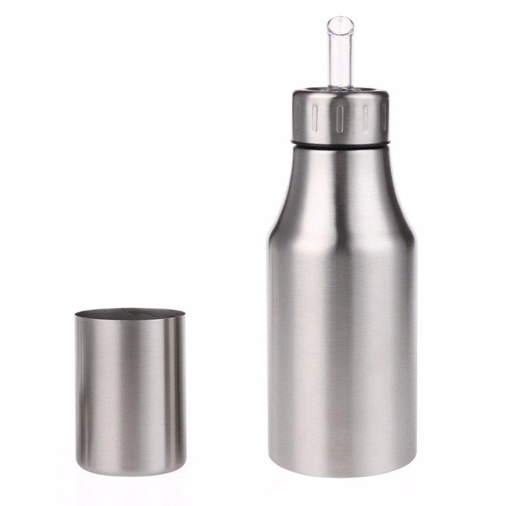 1Pc Stainless Steel Dust-proof Edible Pot Sauce Vinegar Leak-proof Oil Bottle medical stainless steel pot oil pot