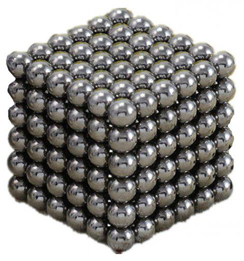 Magic Buck Ball Magnetic  Decompression Puzzle Children Magical Cube Toy - SILVER 5MM