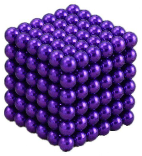 Magic Buck Ball Magnetic  Decompression Puzzle Children Magical Cube Toy - DARK VIOLET 5MM
