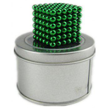 Magic Buck Ball Magnetic  Decompression Puzzle Children Magical Cube Toy - PINE GREEN 5MM