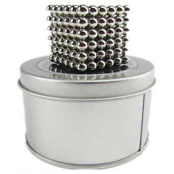 Magic Buck Ball Magnetic  Decompression Puzzle Children Magical Cube Toy - SILVER 3MM