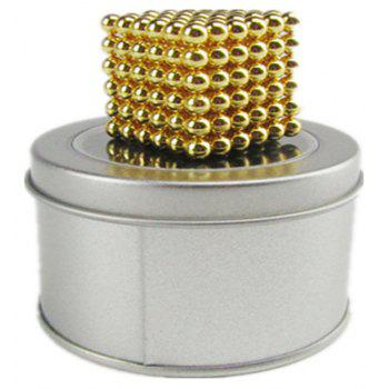 Magic Buck Ball Magnetic  Decompression Puzzle Children Magical Cube Toy - GOLD 5MM