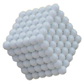 Magic Buck Ball Magnetic  Decompression Puzzle Children Magical Cube Toy - MILK WHITE 5MM