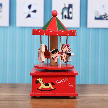 Creative New Carousel Music Box - RED