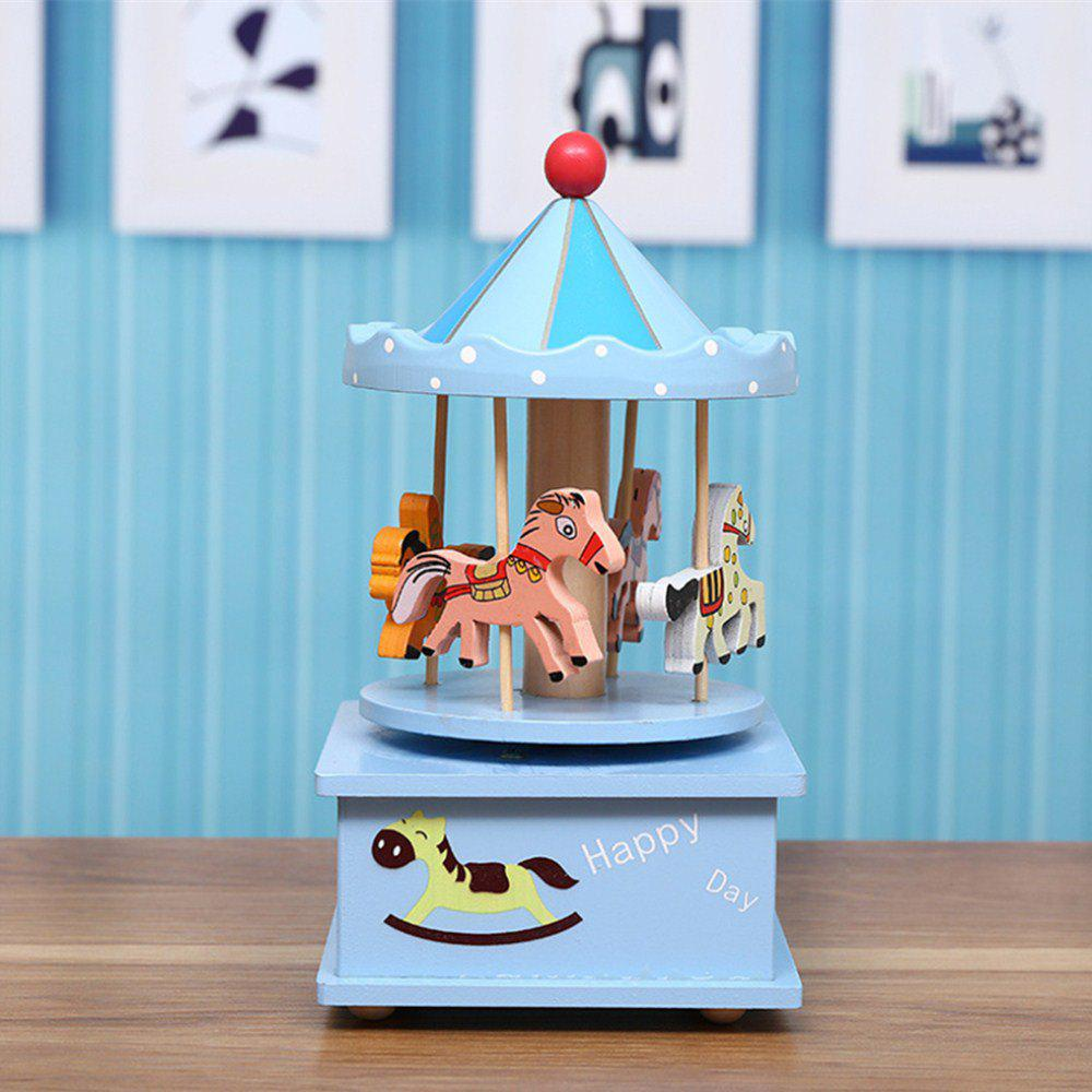 Creative New Carousel Music Box - LIGHT SKY BLUE