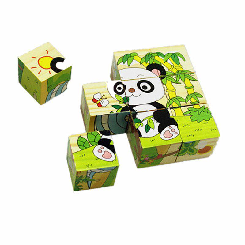 Cartoon Animal Three-dimensional Jigsaw Children Puzzle 9 Pieces Toy popular toys creative three dimensional jigsaw puzzle educational toys for children solar model biplane model jigsaw puzzle toys