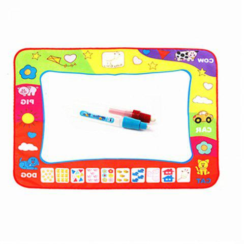 Monochrome Water Canvas Writing Blanket Doodle Baby Child Puzzle Toy - multicolor
