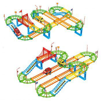 Electric Assembly Color Variable Speed Track Toy - multicolor
