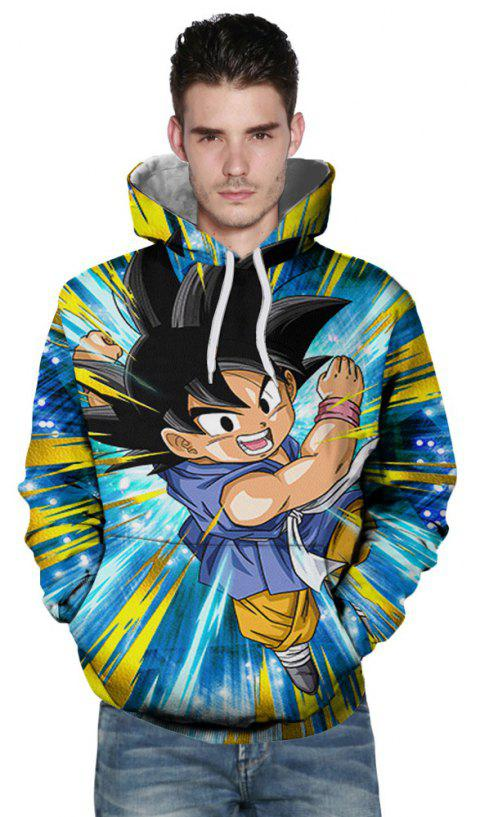 New Fashion Flying Boxing Boy 3D Printing Men's Hoodie - multicolor 3XL