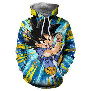New Fashion Flying Boxing Boy 3D Printing Men's Hoodie - multicolor XL