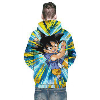 New Fashion Flying Boxing Boy 3D Printing Men's Hoodie - multicolor 2XL
