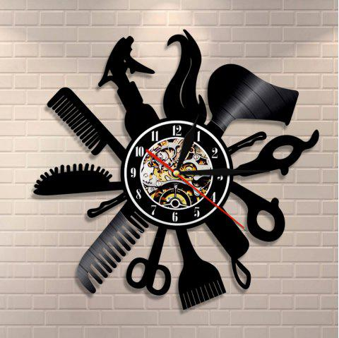 Vinyl Record Wall Clock Art Gifts Birthday Gifts 12 Inch - BLACK WITHOUT BATTERY