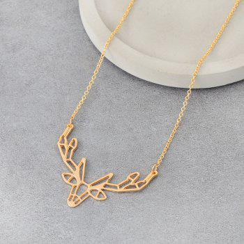 Character Animal Origami Elk Horn Pendant Necklace Lady Jewelry - GOLD 4.4X3.2X50CM