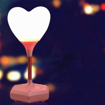 Creative Led Touch Usb Charging Love Silicone Night Lamp - PINK