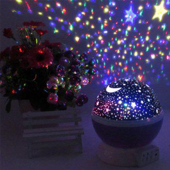 Creative Colorful Led Star Rotation Projection Home Decoration Lamp - SKY BLUE