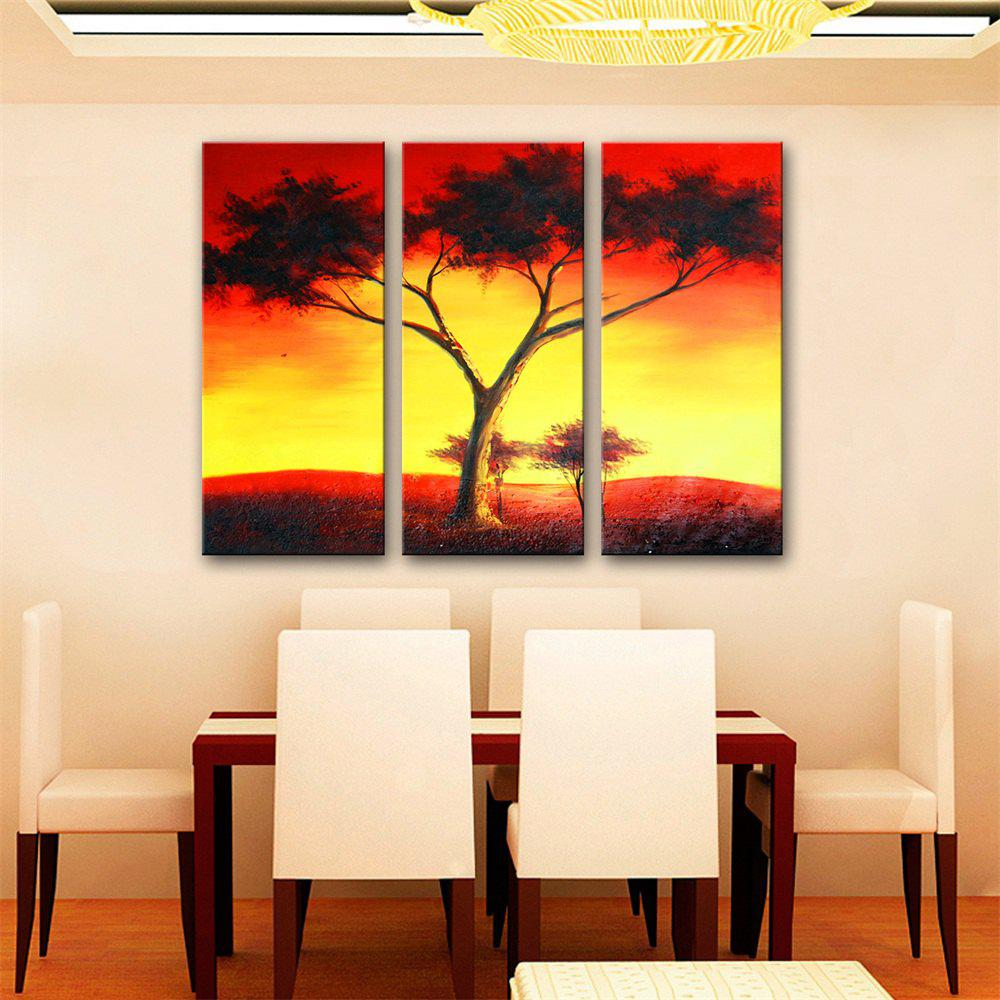 2018 Special Design Frameless Paintings Red Sky Print 3PCS ...