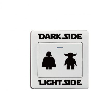 Dark Light Switch Sticker Classic Decal DIY Cartoon Vinyl Kids Room Home Decor - BLACK 8.3X8.2CM