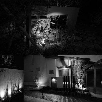 7W COB  Waterproof Outdoor Garden Low Voltage AC12V Lawn Lamp Spiked Stand 6PCS - BLACK 3000K-3500K