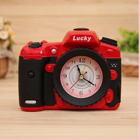 K233-YY7689 Camera Alarm Plastic Table Decoration - RED