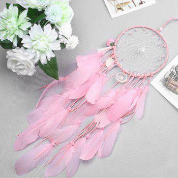 Cute Pink Shell Tassel  Catch Dream Net Crafts Hang Decoration - PINK