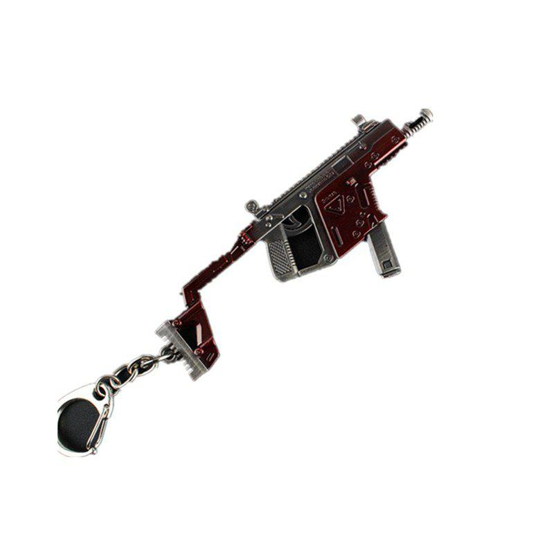 Game Rifle Model Battlegrounds Cosplay Props Alloy Armor Key Chain - VALENTINE RED