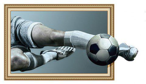 Wall Paste 3D Football Self-Adhesive Painting PVC Waterproof - DARK GRAY