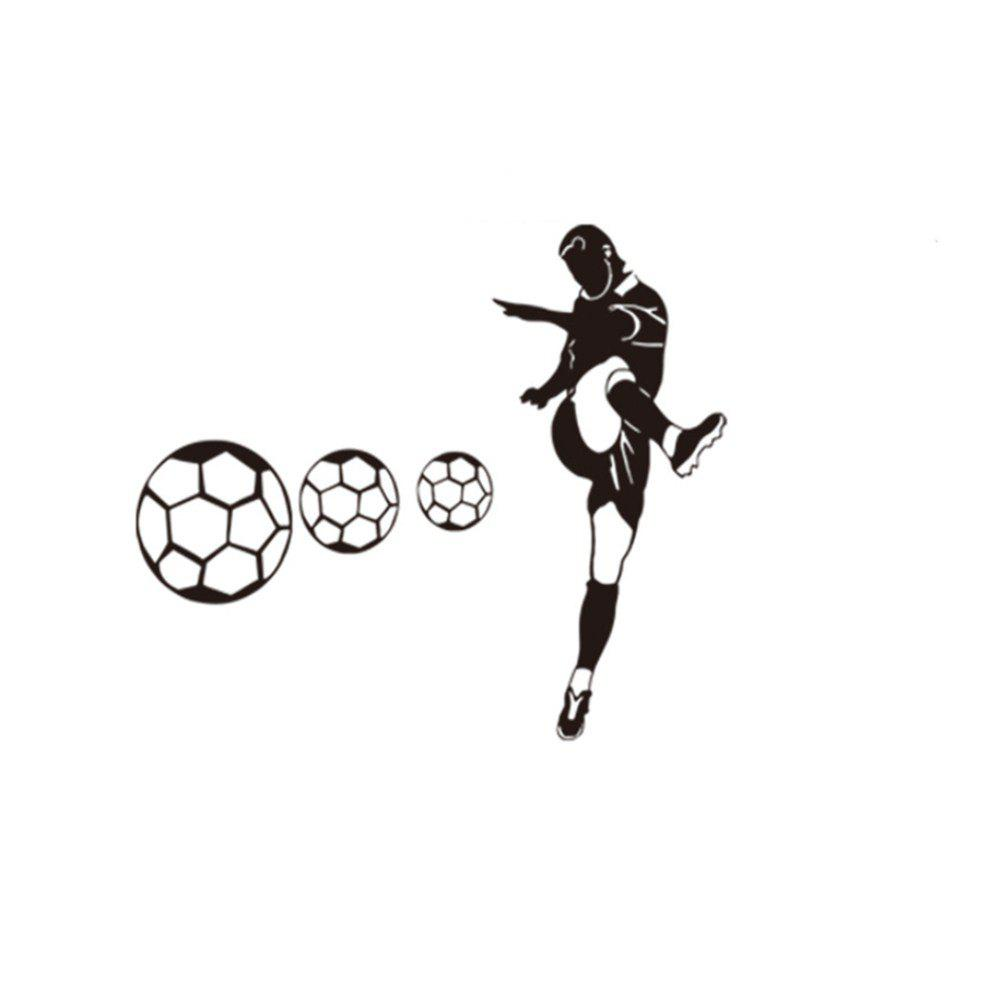 цена Sports Series Wall Stickers Boys Bedroom Football Decoration