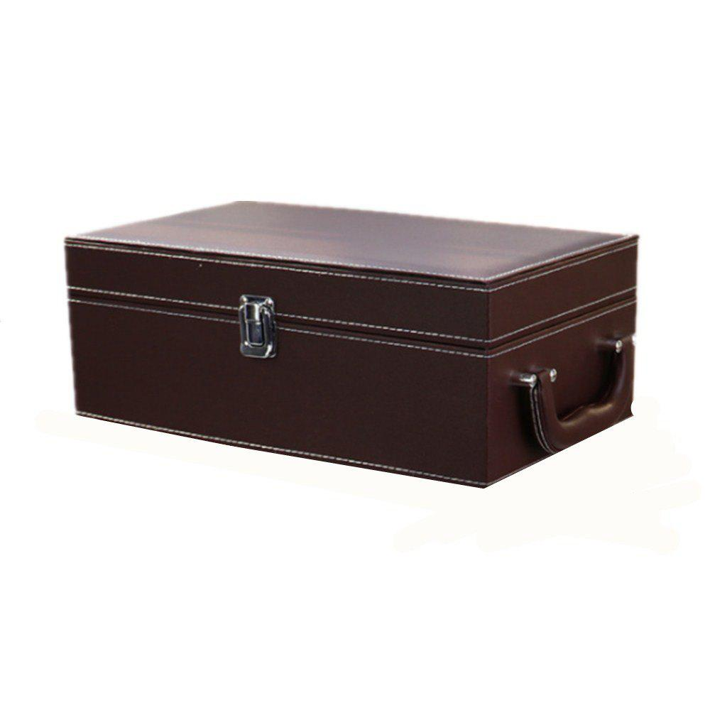 2 Sets of PU Leather High-End Wine Box