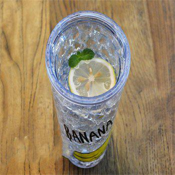 Creative Summer Double Zone Cover Straw Plastic Cooling Water Cup - DENIM BLUE