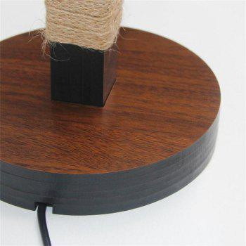 Creative Solid Wood Desk Lamp for 3D Stereoscopic Vision - WARM WHITE