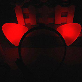 Cat Ear Glows Hair Hoop Headband - RED