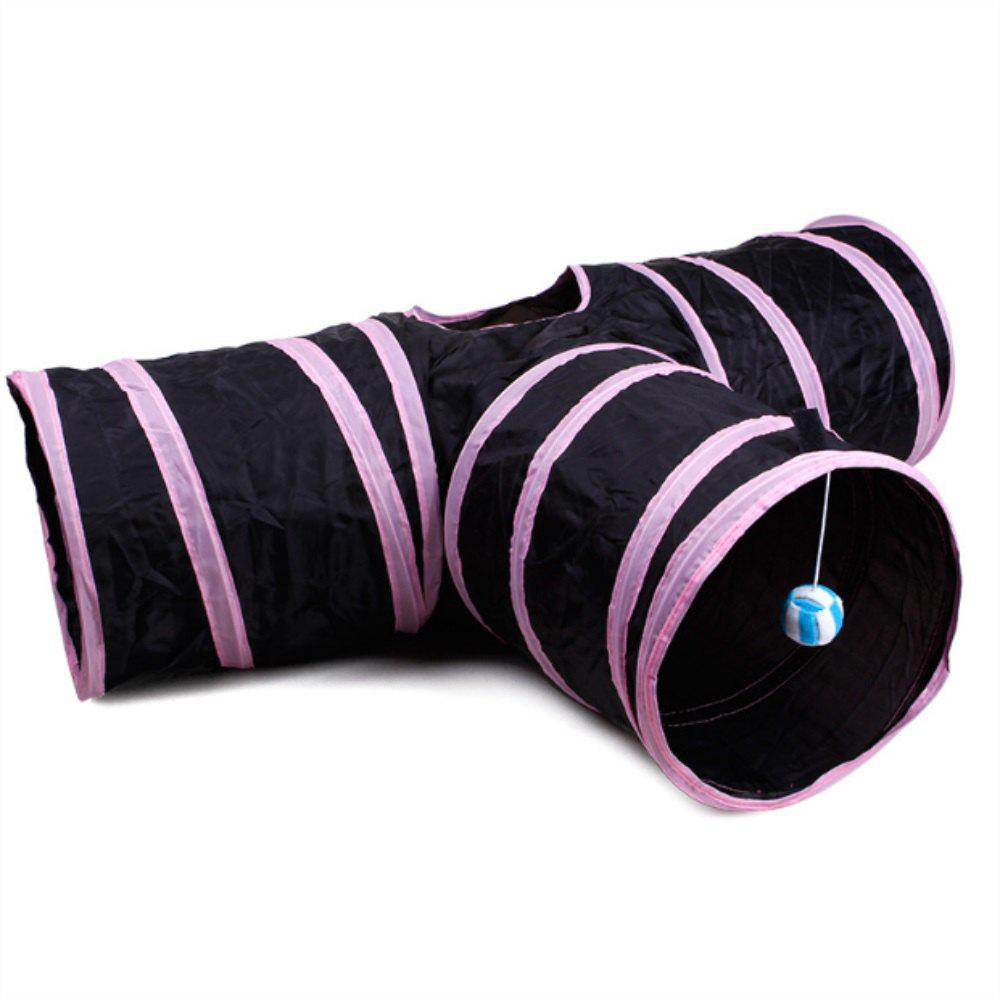 The Pink Side of Cat A Three Way Folding Tunnel - multicolor