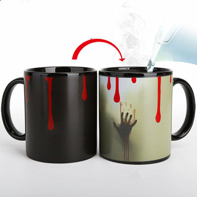 Ghost Heat Sensitive Mug Color Changing Discoloration Ceramic Cup cozzine unicorn heat sensitive mug color changing cup 3pcs