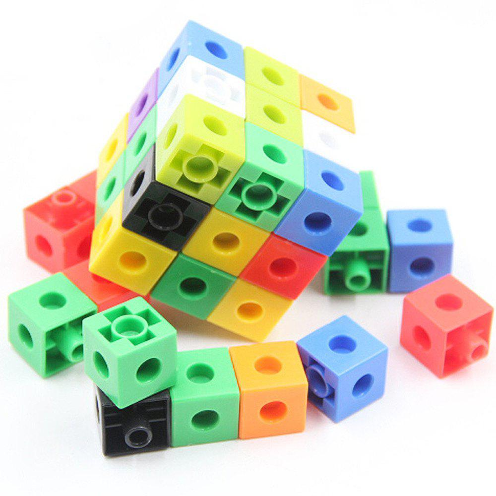 Creative Kid Puzzle Assembled Plastic Building Block 100 Cubes jie star fire ladder truck 3 kinds deformations city fire series building block toys for children diy assembled block toy 22024