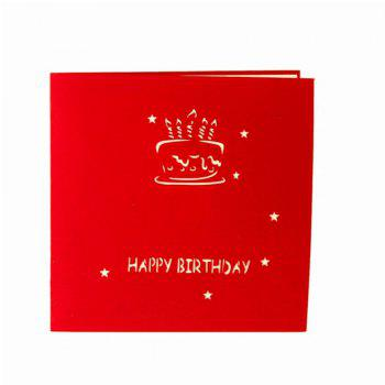 Birthday Creative 3D Greeting Card - RED