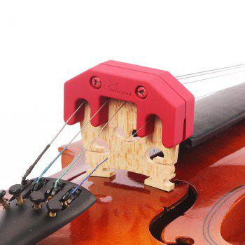 Rubber Coated Metal Practice Mute for Violin / Viola - RED