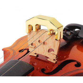 Zinc Alloy Practice Mute for 4/4 Violin and Small Viola - GOLD