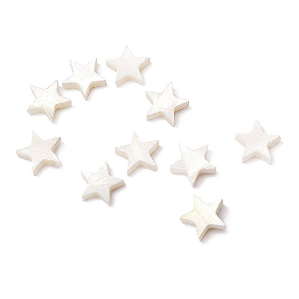 Star Pearl Dot for Guitar Mandolin Banjo Maker 10PCS - WHITE