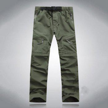 Men's Outdoor Fast Dry UV resistant nvertible Pants Trousers Hunting Pants - CAMOUFLAGE GREEN S