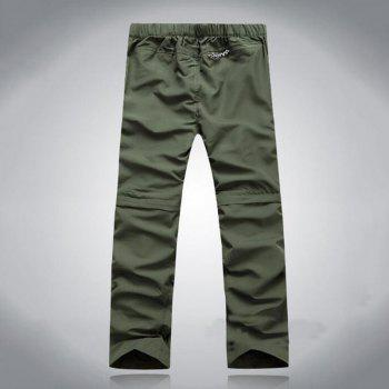 Men's Outdoor Fast Dry UV resistant nvertible Pants Trousers Hunting Pants - CAMOUFLAGE GREEN 3XL