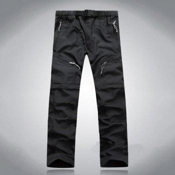 Men's Outdoor Fast Dry UV resistant nvertible Pants Trousers Hunting Pants - BLACK 2XL