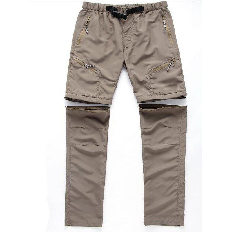 Men's Outdoor Fast Dry UV resistant nvertible Pants Trousers Hunting Pants - LIGHT KHAKI 3XL