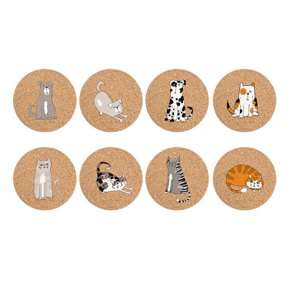 Eco-friendly Non-Stick Large Cork Coasters with Animal Cartoons Design Set of 8 100 pcs lot of small glass vials with cork tops 1 ml tiny bottles little empty jars