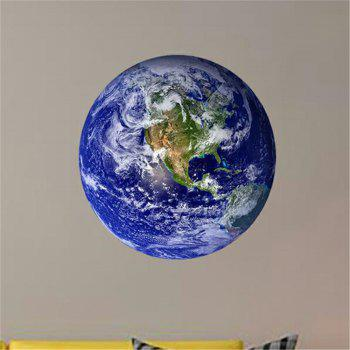 Glow In The Dark Earth Wall Decals 30CM Luminous Sticker At Night - EARTH BLUE