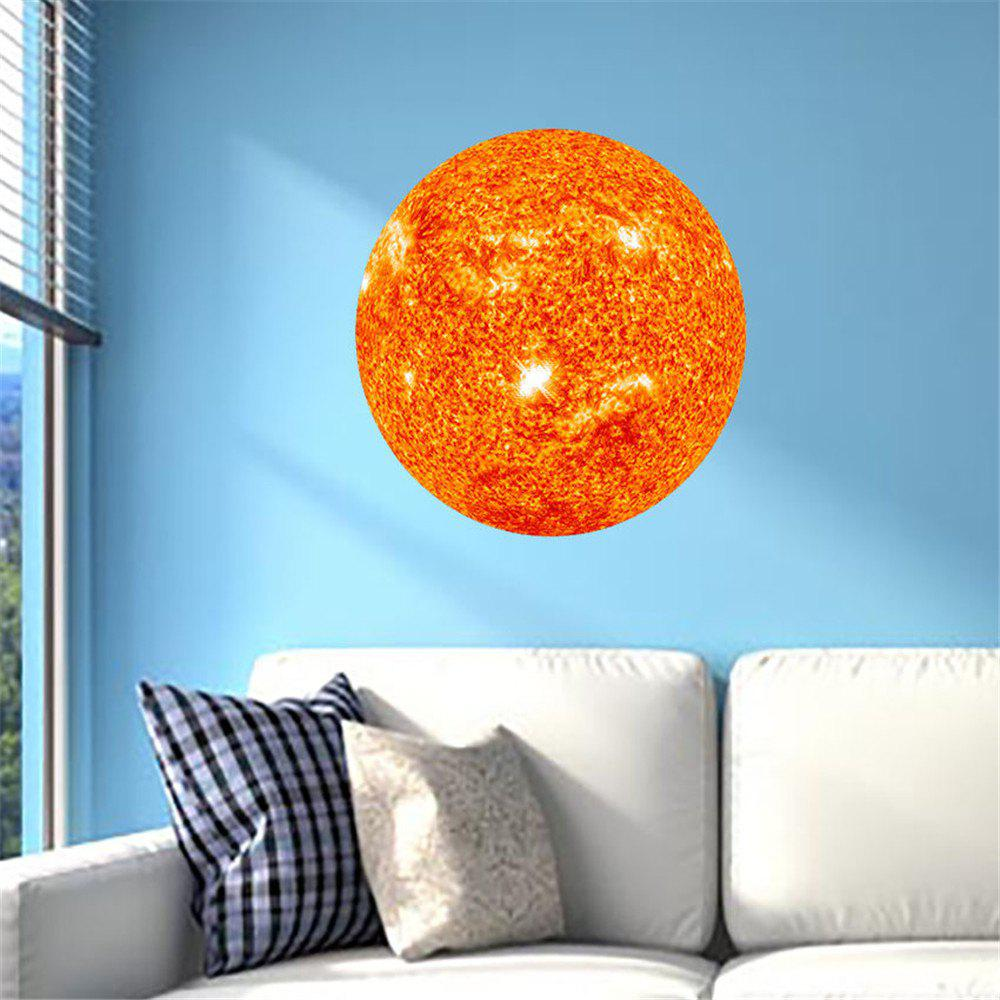 3D DIY Decor Removable Art Sun Mural Baby Nursery Room - PAPAYA ORANGE