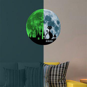 Cat and Castle 30 Cm Luminous Wall Stickers Children Room Decoration - GRAY