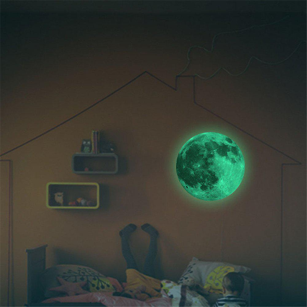 Glow in the Dark Moon Wall Decals 30CM Luminous Sticker At Night 50pcs glow earphone luminous earbuds light metal zipper earphones glowing in the dark headset for xiaomi mi iphone glow night