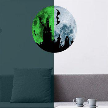 Glow In The Dark Bats Castle Wall Decals 30CM Luminous Sticker At Night - GRAY